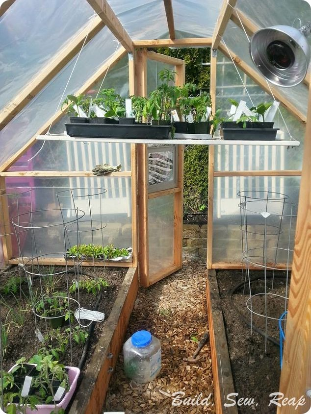 build your own simple greenhouse, gardening