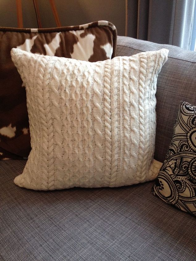 how to make a cozy sweater pillow, crafts, how to, repurposing upcycling, reupholster
