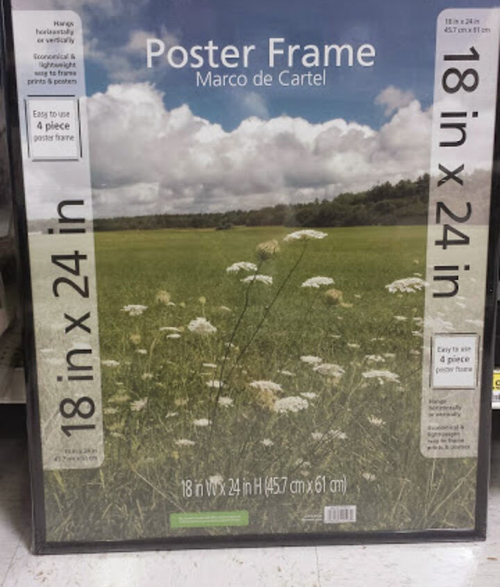 framed poster size art under 10, crafts, how to, living room ideas, repurposing upcycling