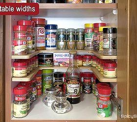 Spice Cabinet Organization, Kitchen Cabinets, Organizing, Storage Ideas