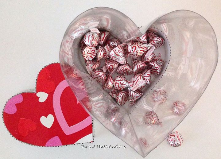 recycled soda bottle heart shaped see thru box, crafts, how to, repurposing upcycling, seasonal holiday decor, valentines day ideas