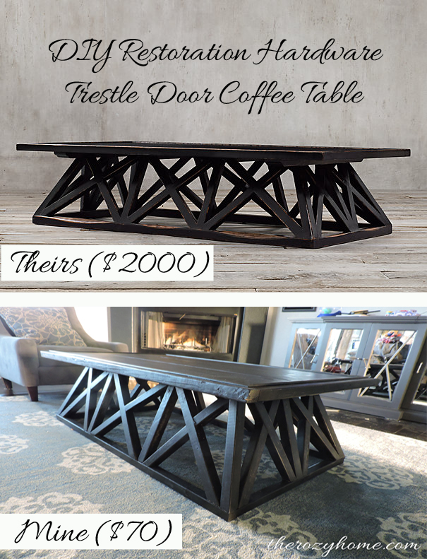70 Diy Restoration Hardware Inspired Coffee Table Painted Furniture