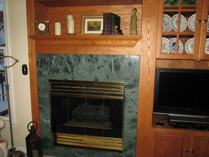 How Can I Update The Fireplace Without, Can You Tile Over A Marble Fireplace Surround