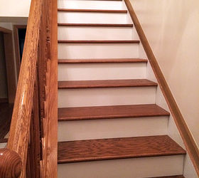 hardwood stairs white risers photos freezer and stair iyashix com rh iyashix com oak stairs with white risers oak stairs with white spindles