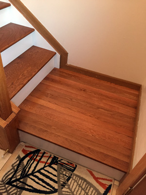 The classic look dark treads and white risers diy - Interior stair treads and risers ...