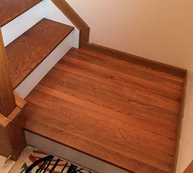 The Clic Look Dark Tre And White Risers Diy Stairs Hometalk. Knotty Pine Stair  Tread