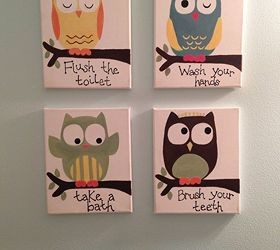 Superb Kids Owl Bathroom Art, Bathroom Ideas, Crafts
