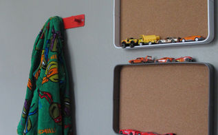 diy tray matchbox car wall organizer, organizing