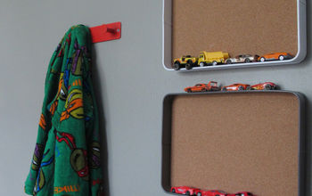 DIY Tray Matchbox Car Wall Organizer