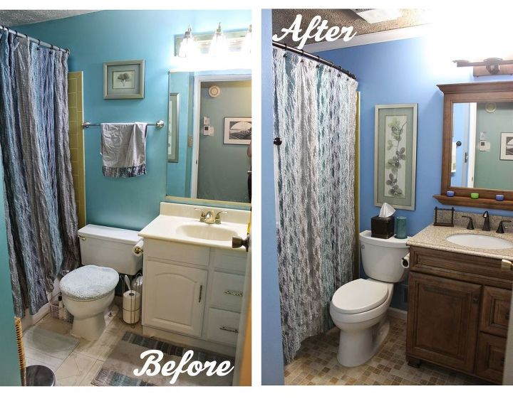 Diy small bathroom renovation hometalk for Bathroom designs diy