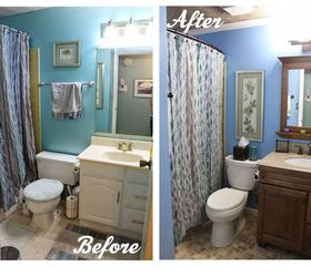 Diy Small Bathroom Renovation, Bathroom Ideas, Home Improvement, Painting,  Small Bathroom Ideas