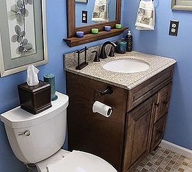 Renovation Ideas For A Small Bathroom Part - 45: Diy Small Bathroom Renovation, Bathroom Ideas, Home Improvement, Painting, Small  Bathroom Ideas