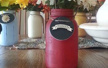 using painted mason jars for flowers, crafts, mason jars, repurposing upcycling