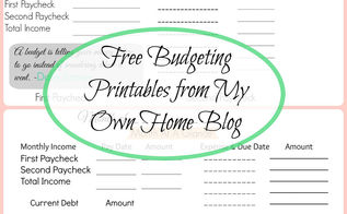 free budget printables, outdoor living