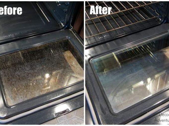 how to clean your oven door naturally cleanit, appliances, cleaning tips, how to
