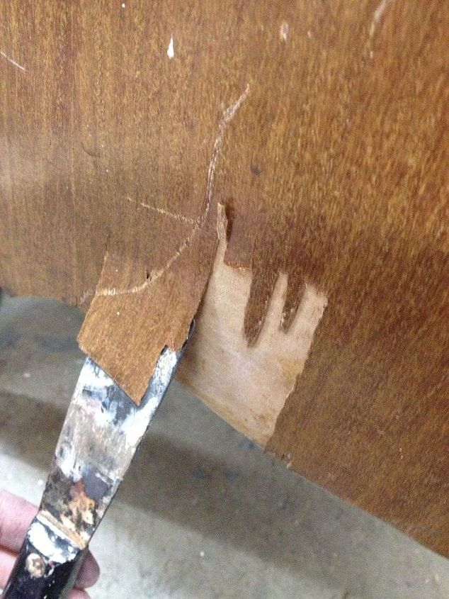 using bondo to repair wood damage before painting, home maintenance repairs, painted furniture, products, woodworking projects