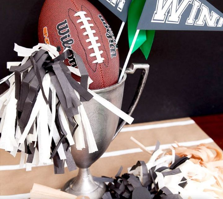 football centerpiece for superbowl parties free printable, crafts, how to