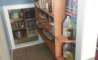 diy pantry make over, closet