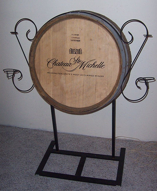 repurposed wine display to address sign, crafts, repurposing upcycling