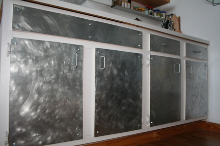 Paint Or New Hardware To Get Industrial Look In Kitchen