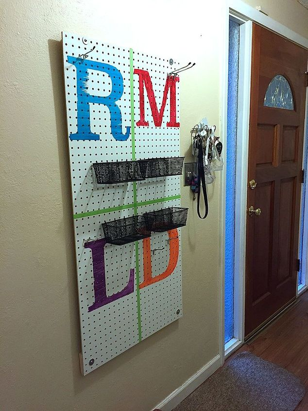 peg board coat rack, craft rooms, crafts, diy, how to, organizing