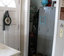 basic entry closet gets a repurposed redo, closet, foyer, repurposing upcycling, storage ideas