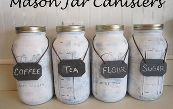 mason jar canisters, mason jars