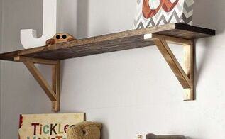 rustic ikea ekby shelf hack, home decor, painted furniture, rustic furniture, shelving ideas