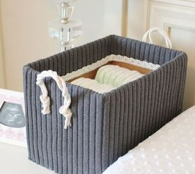 Cute Storage Boxes From Old Sweaters And Boxes, Diy, Home Decor, Organizing,