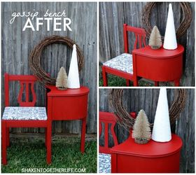 Gossip Benches Part - 44: Gossip Bench Telephone Table Makeover, Painted Furniture, Rustic Furniture