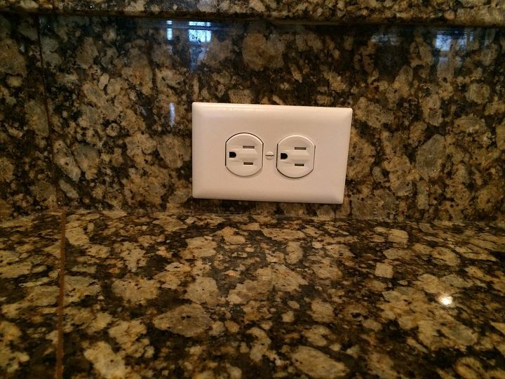 q how to paint electrical outlet plates to match granite, how to, painting, Electrical outlet plate