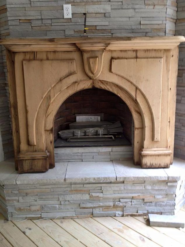 q wood mantle what would you do, fireplaces mantels, living room ideas