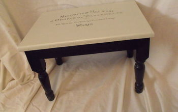 shabby chic stool maker over, painted furniture, repurposing upcycling, shabby chic, After