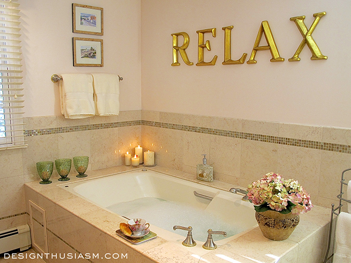 Shabby Chic Relaxing Bathroom Decor Ideas Home Improvement Wall