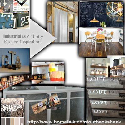 """Industrial DIY thrifty Kitchen Inspirations"""