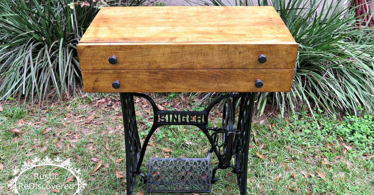 Singer Sewing Machine Base Storage Table Hometalk Beauteous Sewing Machine Stands
