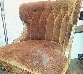 See How She Saved These Disgusting Old Velvet Chairs, Chalk Paint, Painted  Furniture,