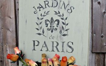 french garden sign, chalk paint, crafts, flowers, how to, repurposing upcycling