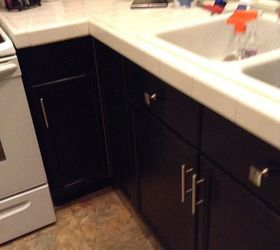 I Had Almost The Same Cabinets. Here Is What I Did. I Have Lots Of Natural  Light So I Could Go Dark And You Still See The Grain. Which I Actually  Like. Used ...