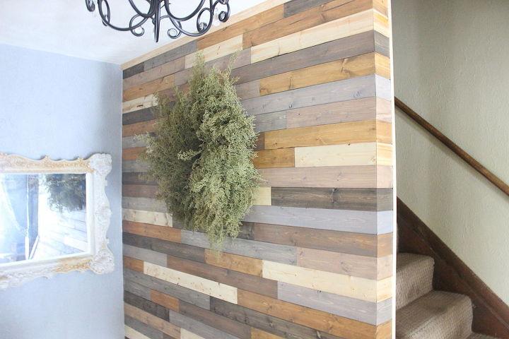 Art On Wood Planks ~ Painted wood plank wall hometalk