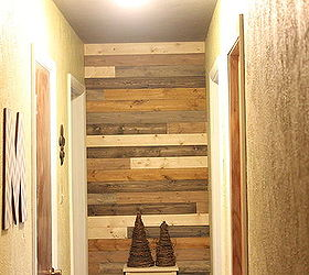 Wooden plank wall decor