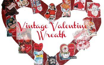 Vintage Valentine Wreath