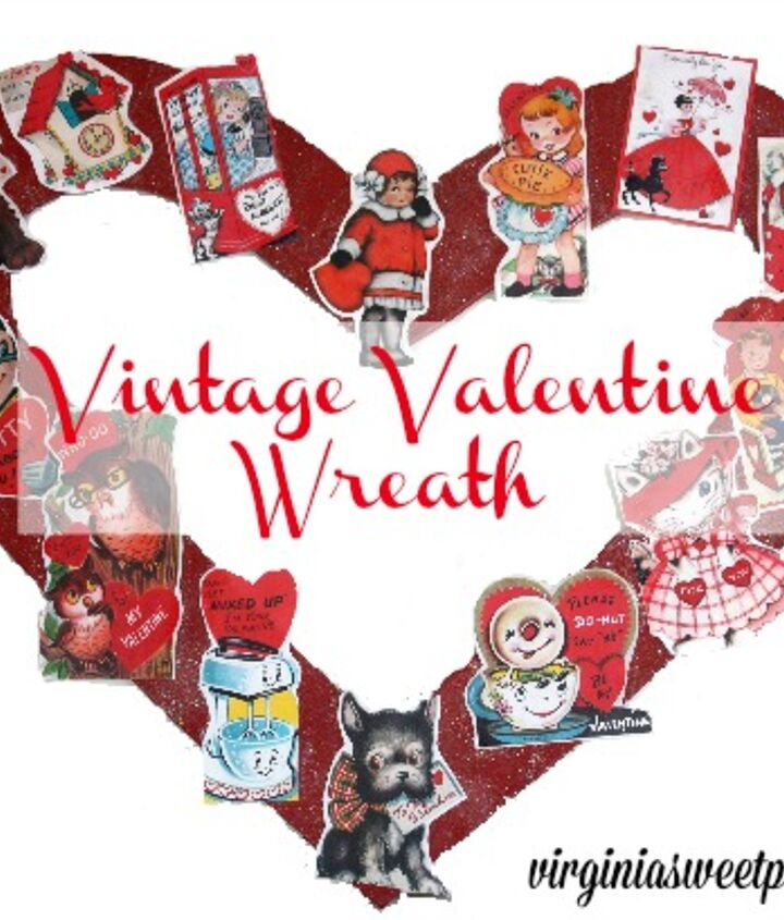 vintage valentine wreath, crafts, how to, seasonal holiday decor, valentines day ideas, wreaths