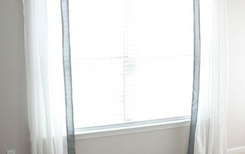 DIY Fabric Trimmed Curtains