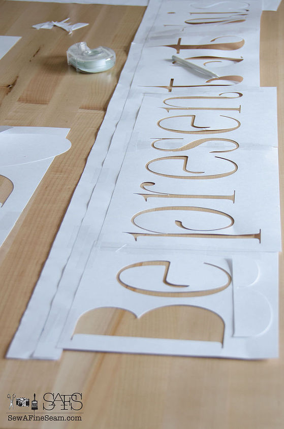 How To Stencil Words On A Wall Hometalk