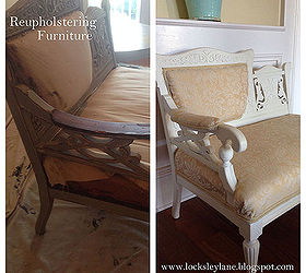 Elegant Reupholstering Furniture Small Pieces, Painted Furniture, Reupholster