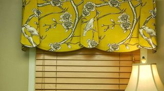 , PEYTON Hidden Rod Pocket valance The valance is installed using a continental curtain rod but it looks like it is mounted on a board