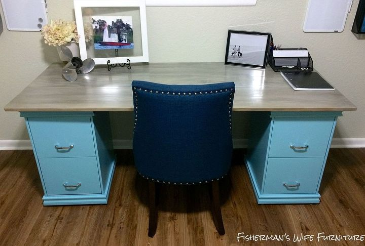 Diy Filing Cabinet Desk Home Decor Office Painted Furniture