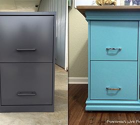 Nice Diy Filing Cabinet Desk, Diy, Home Decor, Home Office, Painted Furniture