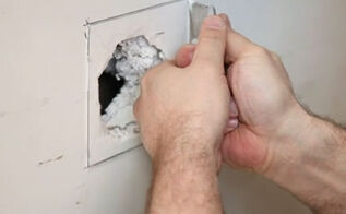 how to repair a drywall hole, home maintenance repairs, how to, painting, wall decor